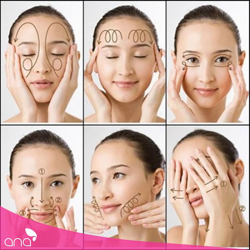 hướng dẫn massage mặt
