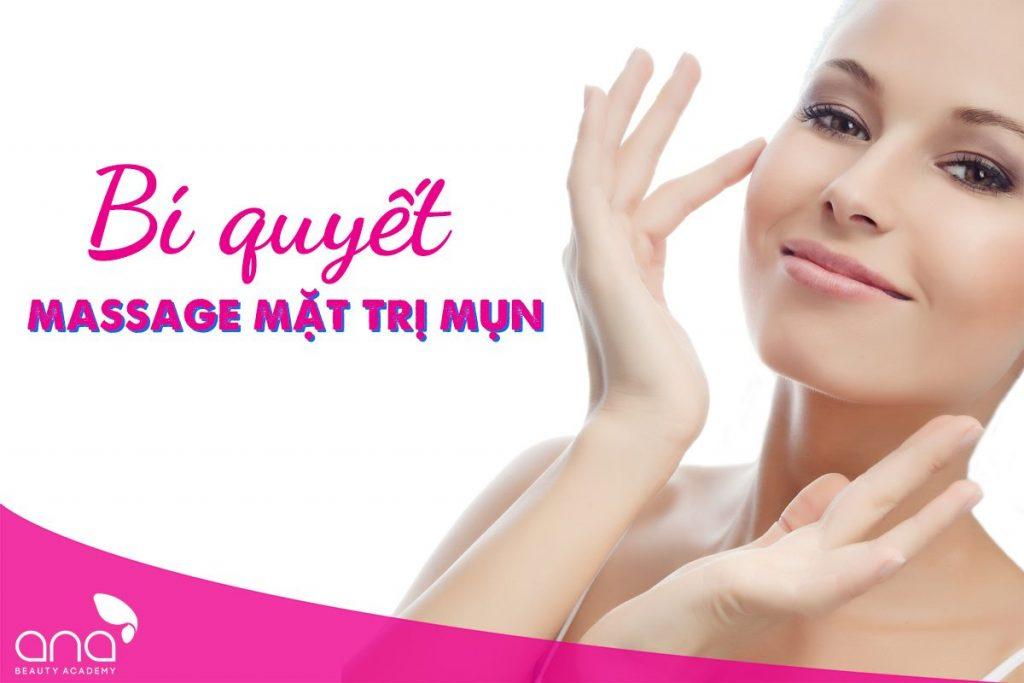 massage mặt trị mụn
