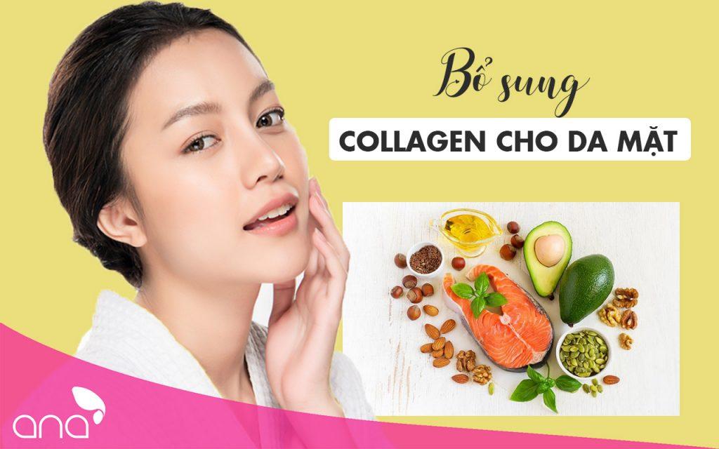 bổ sung collagen cho da mặt
